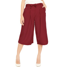 Diskon Jo Nic Jessica Pleats Culotte Pants Celana Kulot Red Jo Nic Di Indonesia