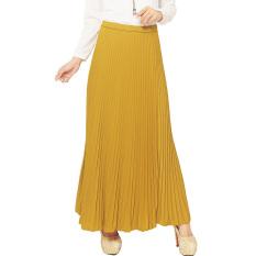 Jo Nic Pleated Long Skirts Rok Panjang Lipit Fit To Xl Yellow Promo Beli 1 Gratis 1