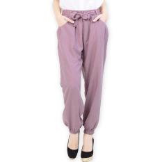 JO & NIC Sweet Tie Jogger Pants AllSize - Celana Wanita - Pink
