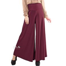 Harga Jo Nic Wide Bottom Pants Kulot Wanita Fit To Big Size Maroon Termurah