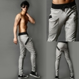 Toko Jo In Pria Keren Celana Harem Celana Skinny Berkaki Lurus Pas Sports Pants Keringat Kelabu International Murah Di Tiongkok