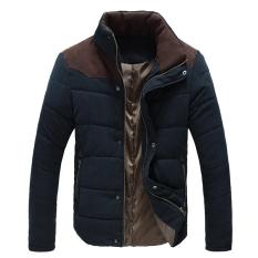 Jual Jo Dalam Laki Laki Hangat Musim Dingin Termal Jaket Empuk Cotton Padded Jacket Musim Dingin Ramping Dilengkapi Menebal Mantel Biru Satu Set