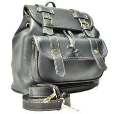 Jobay Promo Tas Ransel Fashion Backpack Tas Gemblok Tas Selempang Slingbag 2In1 Abriana02 Abu Abu Promo Beli 1 Gratis 1