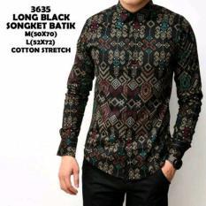 Jofin. Kemeja batik songket pria murah panjang / Baju kerja cowok slimfit lengan panjang / kaos casual keren. Ukuran M.L. XL