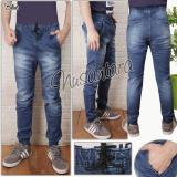 Spesifikasi Nusantara Jeans Jogger Pant Pria Berbahan Soft Jeans Kualitas Import Jahitan Rapi Dijamin Biru Online