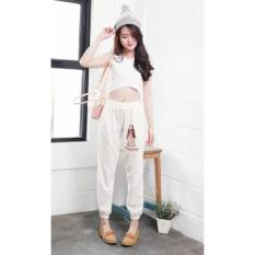 [Jogger Hp Bw FT] Celana Wanita Babyterry Putih