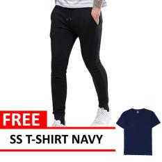Jogger Pants Black Free Ss O Neck Navy Quincylabel Murah Di Indonesia
