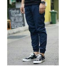 Zens Jogger Pants Skinny Casual BIG SIZE 34 XXL/ Celana Jogger Strech Training/ Jogger Panjang Pria Polos Best Seller - Navy