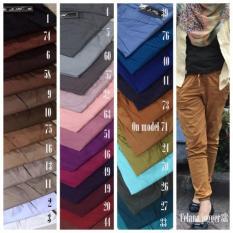 Jogger Pants Polos 3R - Celana Joger Panjang Bahan Katun- Big Hamil OK - Owdtlr