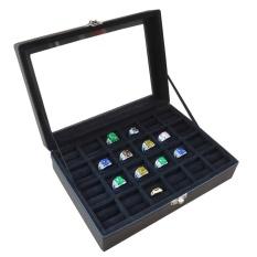 Jogja Craft Full Black Ring Box / Tempat Cincin / Box Cincin / Kotak Cincin Isi 24
