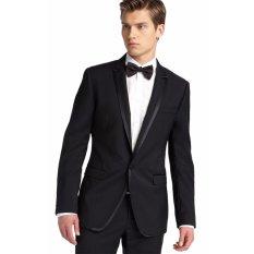 John Varatos - Jas Formal Hitam Elegan Untuk Pria [Black]  Jas Formal  Jas Wedding  Jas Prewedding  Jas Kerja  Jas Kantor
