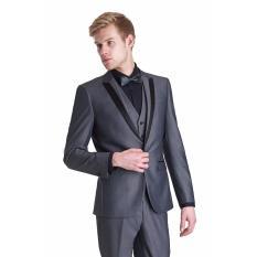Spesifikasi John Varatos Jas Formal Pria Weding Grey Jas Formal Jas Abu Abu Eksklusif Jas Weding Jas Pesta Jas Preweding Paling Bagus