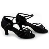 Promo Jo Di Brillante Wanita Sepatu Dansa Latin Ballroom Latin Sepatu 3 Warnd Hitam Murah