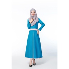 JOJO New Fashion Style Lady Muslim Colorful Women Muslem Dresses Islamstyle Female Muslim Blue - intl