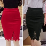 Toko Jojo Plus Ukuran Rok Wanita 2017 Fashion Ol Kantor Pensil Rok Gaun Merah Merah Intl Oem