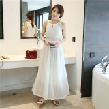 Beli Jojo R Gaun Sifon Musim Panas Floral Summer Bohemian Gaun Dressvest Dress Seaside Resort Beach Dress Putih Intl Baru