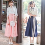 Jual Jojo Tembakan Nyata Panas Musim New Improved Hanfu Spring Korea Siswa Suit Coatdress Gaya Cina Unsur Unsur Cina Pink Oem Murah