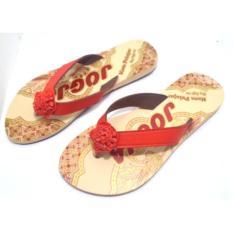 Joker Sandal Jepit Batik Khas Jogja Model A1 - Merah