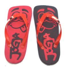 Joker Sandal Jepit Spon khas Jogja - HItam Merah