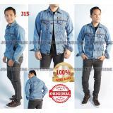 Spesifikasi Jopperside Jaket Jacket Jeans Denim Asli Original Distro Pria Premium Slimfit Abu Biru Muda J15 Dan Harga