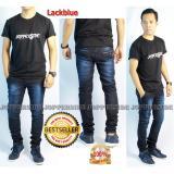 Jopperside Lackblu Celana Jeans Denim Premium Pria Dongker Navy Gelap Un Branded Diskon 30
