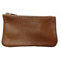 JORHK Classic Coin Pouch For Men Made With Genuine Leather Zippered Coin Purse Change Holder By Nabob Tan 4X2 - intl