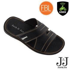 Josh&Joe / fashion pria / sandal murah / sandal pria / sandal pria kulit / sandal pria casual / sandal pria dewasa / sandal gunung pria/ sandal jepit pria CoolBlack