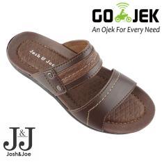Josh&Joe / fashion pria / sandal murah / sandal pria / sandal pria kulit / sandal pria casual / sandal pria dewasa / sandal gunung pria/ sandal jepit pria ModernDarkBrown