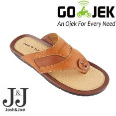 Josh&Joe / fashion pria / sandal murah / sandal pria / sandal pria kulit / sandal pria casual / sandal pria dewasa / sandal gunung pria/ sandal jepit pria NewElegantBrown
