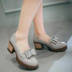 Perbandingan Harga Simpul Tebal Sukacita Dengan Sepatu Wanita Kelabu Di Tiongkok