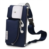 Penawaran Istimewa Joy Casual Male Canvas Messenger Bag Blue Terbaru
