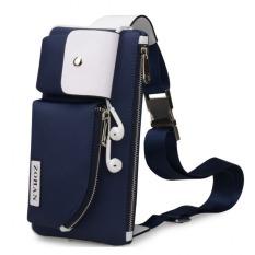 Jual Beli Online Joy Casual Male Canvas Messenger Bag Blue