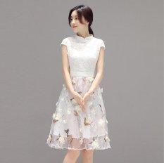 JOY Cheongsam Dress Full Dress Putih-Intl