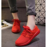 Jual Joy Sepatu Datar Sepatu Santai Bernapas Kelapa Merah Tiongkok