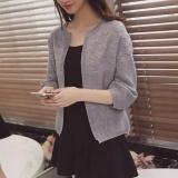 Jual Beli Joy Korea Mode Korea Topi Pendek Longgar Sweater Cardigan Grey Intl Baru Tiongkok