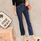 Promo Joy Korea Korean Fashion Ladies Fringed Denim Flares Blue Intl Di Tiongkok