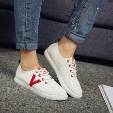 Jual Joy Murni Warna Rekreasi Sepatu Round Head Antiskid Hollow Out Sepatu Putih Intl Satu Set