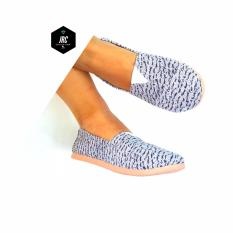 Jrc Collection Sepatu Flatshoes Slipon Yezy Putih Hitam Zebra Model Toms Wakai Jawa Barat