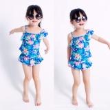 Review Terbaik Js 2017 2 8 Tahun Bayi Perempuan Floral Summer Dua Potong Baju Renang Pakaian Renang Pelindung Matahari S013 Intl