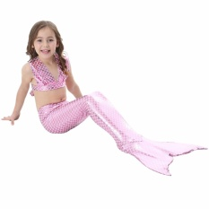 Jual Js Merah Muda 2017 Baru Musim Panas 4 10 Y Balita Gadis Mermaid Ekor Putri 3 Pcs Set B*k*n* Swimsuit Anak Baju Suit Kostum S012 Intl Import