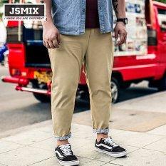 Beli Jsmix Plus Ukuran 36 48 Ukuran Besar Besar Ankle Length Jeans Kasual Intl Cicilan