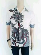 Jual Baju Batik Pria Baju Batik Modern Kemeja Batik Pekalongan Hem Batik Kemeja Motif Kembang Abu Abu