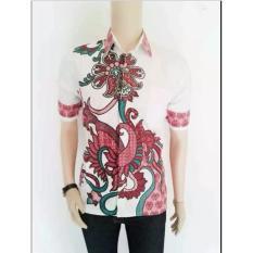 Jual Baju Batik Pria Baju Batik Modern Kemeja Batik Pekalongan Hem Batik Kemeja Motif Kembang Merah
