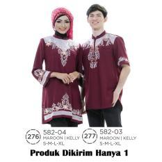 Jual Baju Koko Muslim Couple Pria 582-03 Produk Azzurra Murah !
