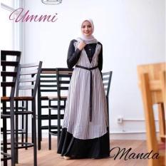 jual dress murah/grosir dress murah/MANDA DRESS BLACK C05