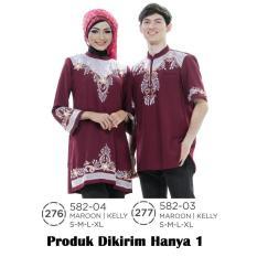 Jual Dress Muslimah Couple Wanita 582-04 Produk Azzurra Murah !