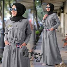 Spesifikasi Jual Gamis Murah Fashion Wanita Terbaru Rnia Maxi Grey Yang Bagus