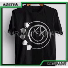 Jual Kaos Tshirt Gildan Sablon Polyflex Custom Band Blink 182 Order Sekarang