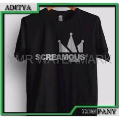 Jual Kaos Tshirt Gildan Sablon Polyflex Custom Screamous Custom Distro Special