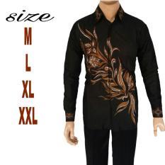 Harga Jual Kemeja Batik Pria Lengan Panjang Kemeja Batik Pekalongan Lengan Panjang Teratai Original